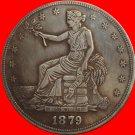 1 Pcs 1879 Trade Dollar COIN COPY