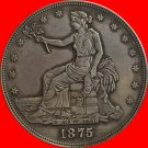 1 Pcs 1875-CC Trade Dollar COIN COPY
