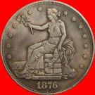 1 Pcs 1876-CC Trade Dollar COIN COPY