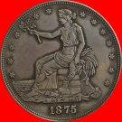 1 Pcs 1875-S Trade Dollar COIN COPY
