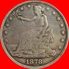 1 Pcs 1878-S Trade Dollar COIN COPY