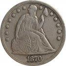 1 Pcs 1870-CC Seated Liberty Dollar COINS COPY