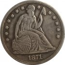 1 Pcs 1871 Seated Liberty Dollar COINS COPY