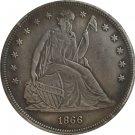 1 Pcs 1866 Seated Liberty Dollar COINS COPY