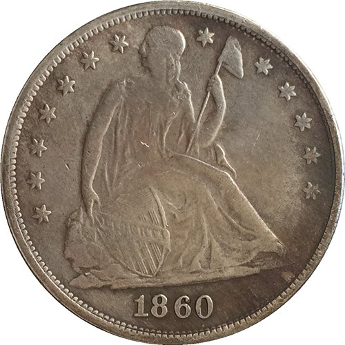 1 Pcs 1860 Seated Liberty Dollar COINS COPY