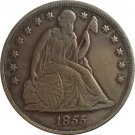 1 Pcs 1855 Seated Liberty Dollar COINS COPY