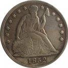 1 Pcs 1852 Seated Liberty Dollar COINS COPY