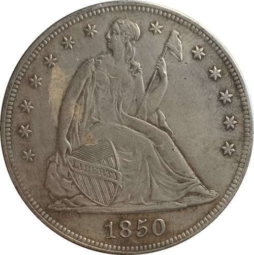 1 Pcs 1850 Seated Liberty Dollar COINS COPY