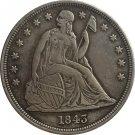 1 Pcs 1843 Seated Liberty Dollar COINS COPY