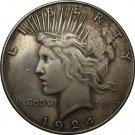 1 Pcs 1924-S Peace Dollar COIN COPY