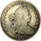 1 Pcs 1801 Draped Bust Dollar COIN COPY