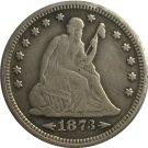 1 Pcs 1873-S Seated Liberty Quarter Coin Copy