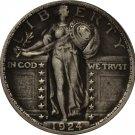1 Pcs 1924-D Standing Liberty Quarter COIN COPY