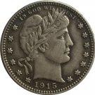 1 Pcs 1915-S QUARTER DOLLARS BARBER COINS COPY