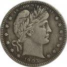 1 Pcs 1903 QUARTER DOLLARS BARBER COINS COPY