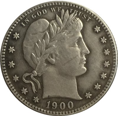 1 Pcs 1900-O QUARTER DOLLARS BARBER COINS COPY