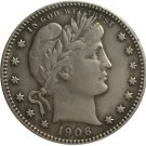 1 Pcs 1906-D QUARTER DOLLARS BARBER COINS COPY