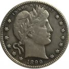 1 Pcs 1899 QUARTER DOLLARS BARBER COINS COPY
