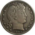 1 Pcs 1893-O QUARTER DOLLARS BARBER COINS COPY