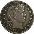 1 Pcs 1914 QUARTER DOLLARS BARBER COINS COPY