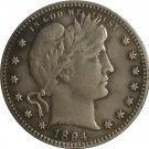 1 Pcs 1894-S QUARTER DOLLARS BARBER COINS COPY