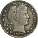 1 Pcs 1907-D QUARTER DOLLARS BARBER COINS COPY