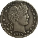 1 Pcs 1915-D QUARTER DOLLARS BARBER COINS COPY