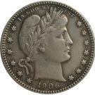 1 Pcs 1906-O QUARTER DOLLARS BARBER COINS COPY