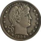 1 Pcs 1908-S QUARTER DOLLARS BARBER COINS COPY