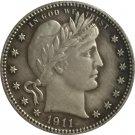 1 Pcs 1911-S QUARTER DOLLARS BARBER COINS COPY