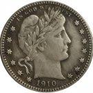 1 Pcs 1910-D QUARTER DOLLARS BARBER COINS COPY