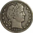 1 Pcs 1905-S QUARTER DOLLARS BARBER COINS COPY
