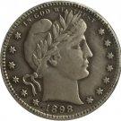 1 Pcs 1898-S QUARTER DOLLARS BARBER COINS COPY