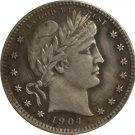 1 Pcs 1904-O QUARTER DOLLARS BARBER COINS COPY
