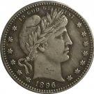 1 Pcs 1896 QUARTER DOLLARS BARBER COINS COPY