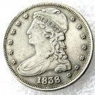 1 Pcs 1838 Capped Bust Half Dollars Copy Coins