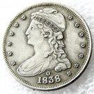1 Pcs 1838-O Capped Bust Half Dollars Copy Coins