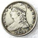 1 Pcs 1839-O Capped Bust Half Dollars Copy Coins