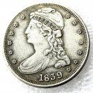 1 Pcs 1839 Capped Bust Half Dollars Copy Coins