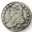 1 Pcs 1814 Capped Bust Half Dollars Copy Coins