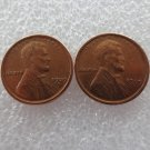Copper Coins 22MM 1909S Lincoln Head-to-Head Two Face Copy Coins