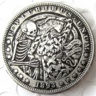 US Hobo 1893 Morgan Dollar skull zombie and lady skeleton Creative Copy Coins