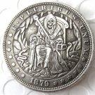 US Hobo 1879 Morgan Dollar skull zombie wizard skeleton Creative Copy Coins