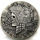 US Hobo 1922 Peace Dollar skull zombie skeleton Creative Coin Pressed Copy Coins