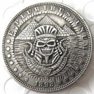 US Hobo 1893 Morgan Dollar Egyptian pyramid pharaoh skull skeleton Creative Copy Coins
