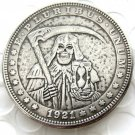 US Hobo 1921 Morgan Dollar sickle wizard Skull Zombie Skeleton Hand Carved Creative Copy Coins