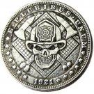 Hobo Nickel USA Morgan Dollar 1921 fire fighting skull zombie skeleton Creative Copy Coins