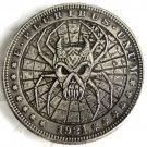 US Hobo 1921 Morgan Dollar Skull Zombie Skeleton Spider Hand Carved Creative Copy Coins