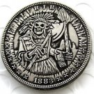 US Hobo 1883 Morgan Dollar indian cheif skull zombie Creative Coin Pressed Copy Coins