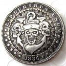 US Hobo 1886 Morgan Dollar skull zombie skeleton Copy Coins